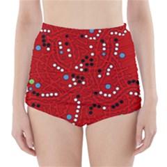 Red Fantasy High Waisted Bikini Bottoms