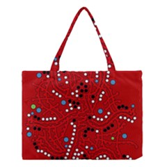 Red Fantasy Medium Tote Bag