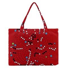 Red fantasy Medium Zipper Tote Bag