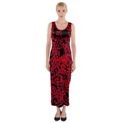 Red emotion Fitted Maxi Dress