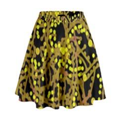 Yellow emotions High Waist Skirt