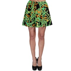 Green Emotions Skater Skirt