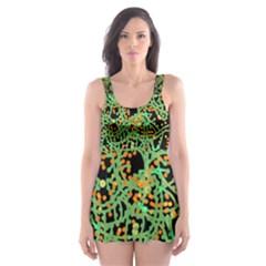 Green emotions Skater Dress Swimsuit