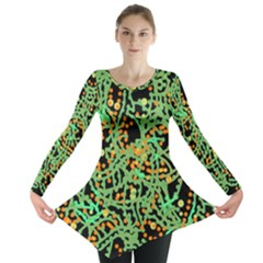 Green emotions Long Sleeve Tunic