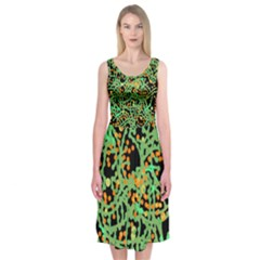 Green emotions Midi Sleeveless Dress