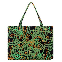 Green emotions Medium Zipper Tote Bag