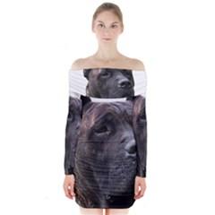 Perro De Pressa Long Sleeve Off Shoulder Dress