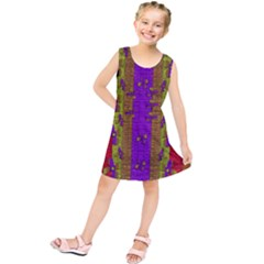 Raining Flowers From The Sky Kids  Tunic Dress