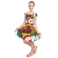 National Seal Of Algeria Kids  Short Sleeve Dress