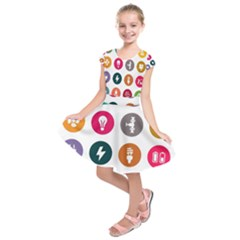 Acces Image Consumer News Letter Kids  Short Sleeve Dress