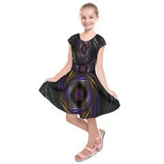 Abstract Fractal Art  Kids  Short Sleeve Dress