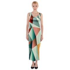 Abstracts Colour Fitted Maxi Dress