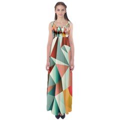 Abstracts Colour Empire Waist Maxi Dress