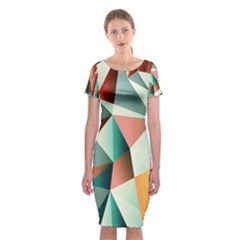 Abstracts Colour Classic Short Sleeve Midi Dress
