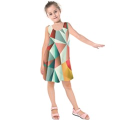 Abstracts Colour Kids  Sleeveless Dress