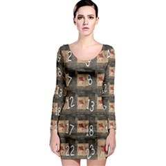 Advent Calendar Door Advent Pay Long Sleeve Bodycon Dress