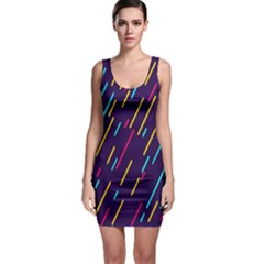 Background Lines Forms Sleeveless Bodycon Dress