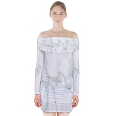 Background Modern Computer Design  Long Sleeve Off Shoulder Dress
