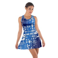 Board Circuits Trace Control Center  Cotton Racerback Dress
