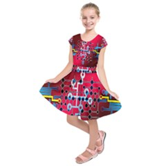 Board Circuits Trace Control Center   Kids  Short Sleeve Dress