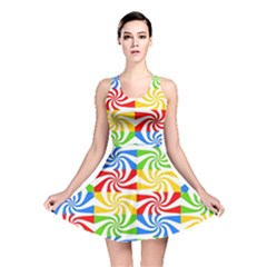 Colorful Abstract Creative Reversible Skater Dress