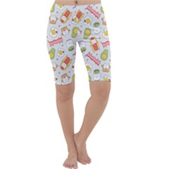 Funny Cat Food Succulent Pattern  Cropped Leggings