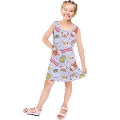 Funny Cat Food Succulent Pattern  Kids  Tunic Dress
