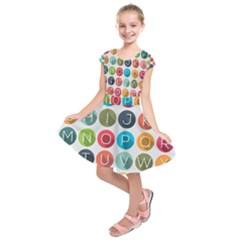 Alphabet Kids  Short Sleeve Dress