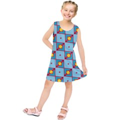 Shapes in squares pattern               Kid s Tunic Dress