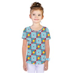 Shapes In Squares Pattern                                  Kids  One Piece Tee