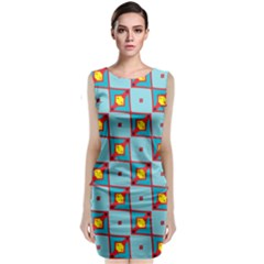 Shapes In Squares Pattern                                                               Classic Sleeveless Midi Dress