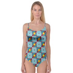Shapes In Squares Pattern                                     Camisole Leotard