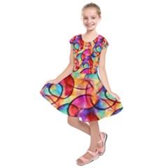 Color Ecstasy Kids  Short Sleeve Dress