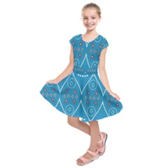 Ornamental shapes             Kids  Short Sleeve Dress