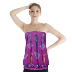 Zombie Pattern Strapless Top