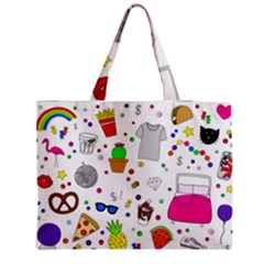 Animals Fruite Cake Lip Pattern Medium Tote Bag
