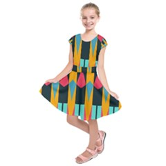Shapes and stripes             Kids  Short Sleeve Dress