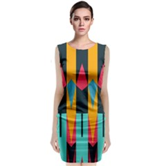 Shapes And Stripes                                                                Classic Sleeveless Midi Dress
