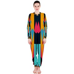 Shapes And Stripes                                                                                                             Onepiece Jumpsuit (ladies)