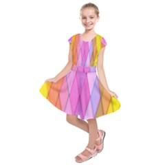 Graphics Colorful Color Wallpaper Kids  Short Sleeve Dress