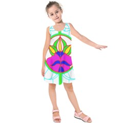 Pattern, Template, Stained Glass Kids  Sleeveless Dress