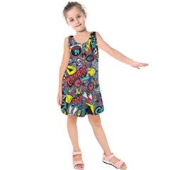 Bike Jumble Kids  Sleeveless Dress
