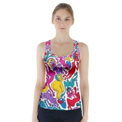 Animation Animated Cartoon Pattern Racer Back Sports Top