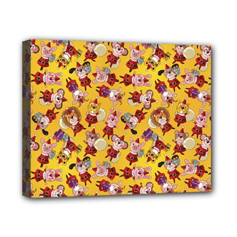Bears Bunnies Goats Tigers Lions Pigs Gifts Texture Fun Canvas 10  X 8