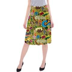 C Pattern Midi Beach Skirt