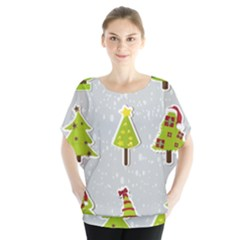Christmas Elements Stickers Blouse