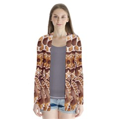 Christmas Cookies Bread Drape Collar Cardigan