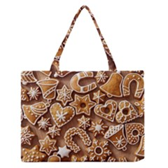 Christmas Cookies Bread Medium Zipper Tote Bag