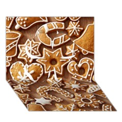 Christmas Cookies Bread Clover 3d Greeting Card (7x5)