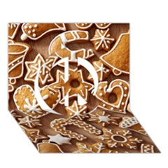 Christmas Cookies Bread Peace Sign 3d Greeting Card (7x5)